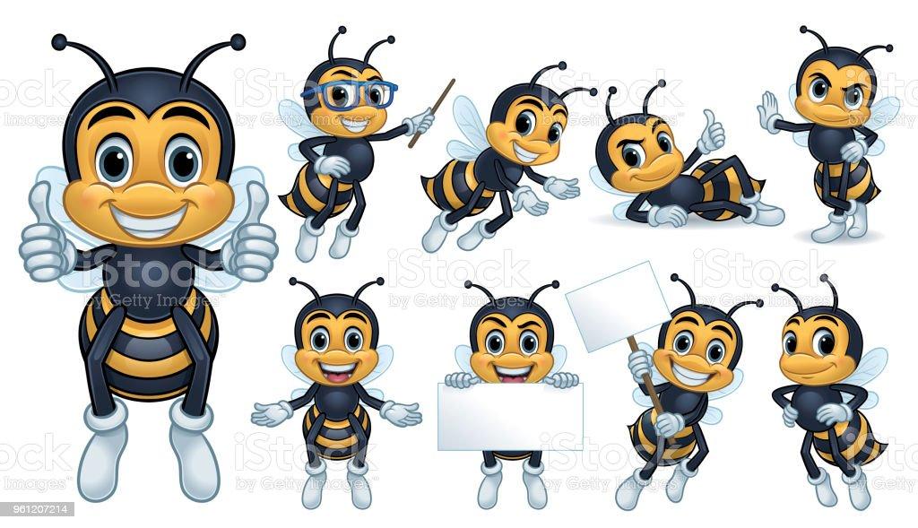 Biene-Maskottchen – Vektorgrafik