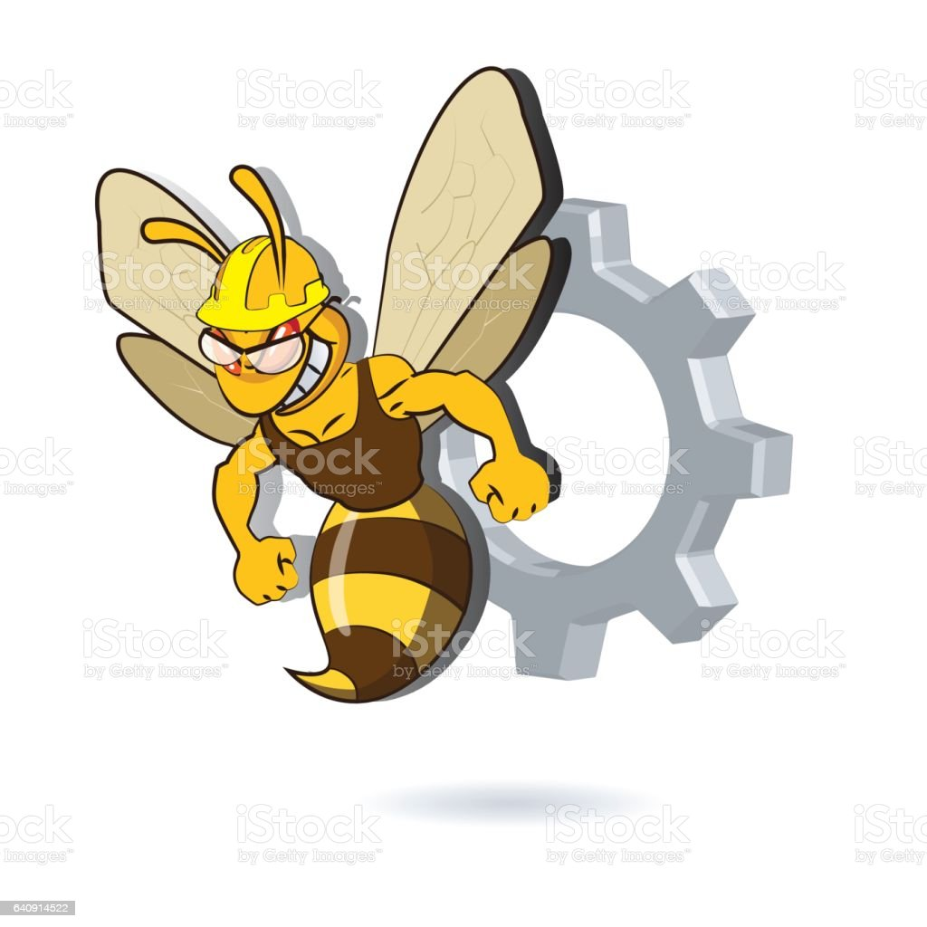 Bee Mascot Design vector art illustration