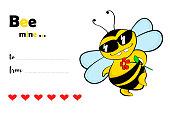 Bee mine - Valentine's Day card