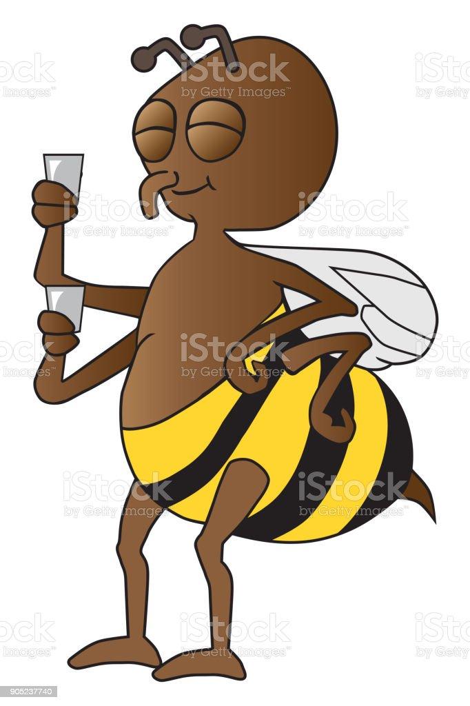 Bee On Break vector art illustration