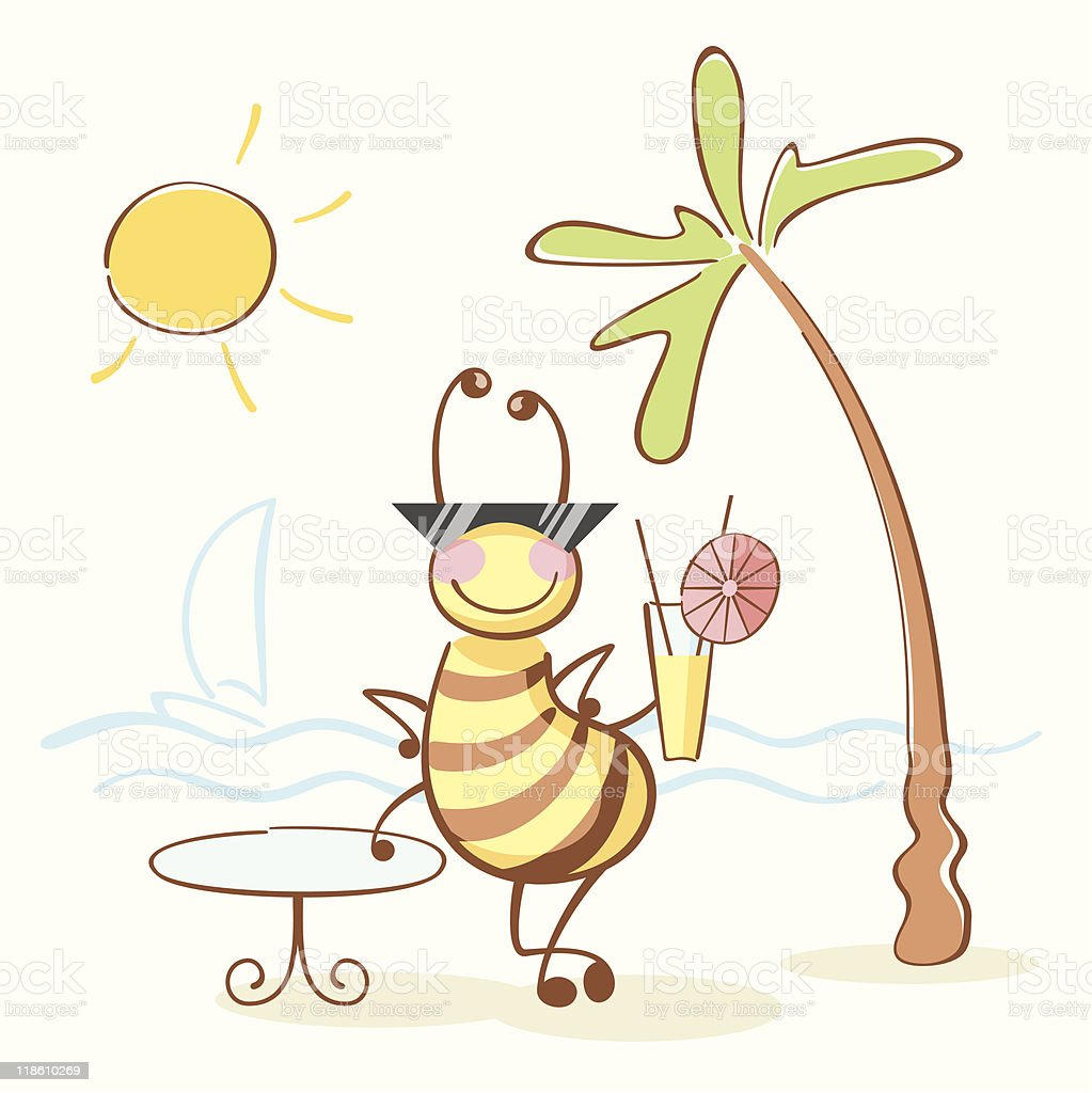 bee on the rest royalty-free stock vector art
