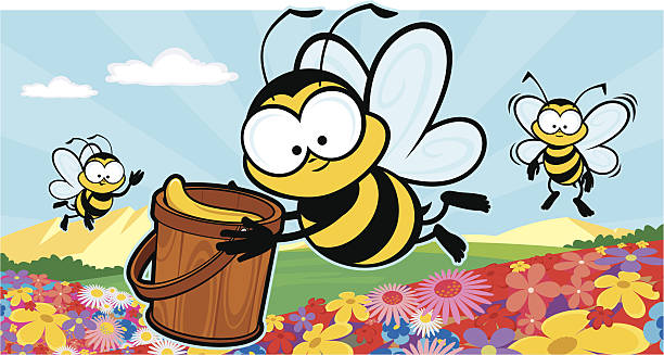 Bee Productive vector art illustration