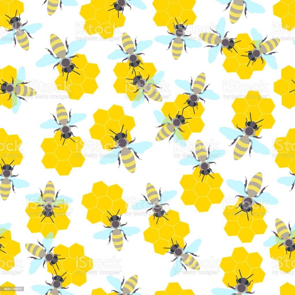Bee seamless pattern