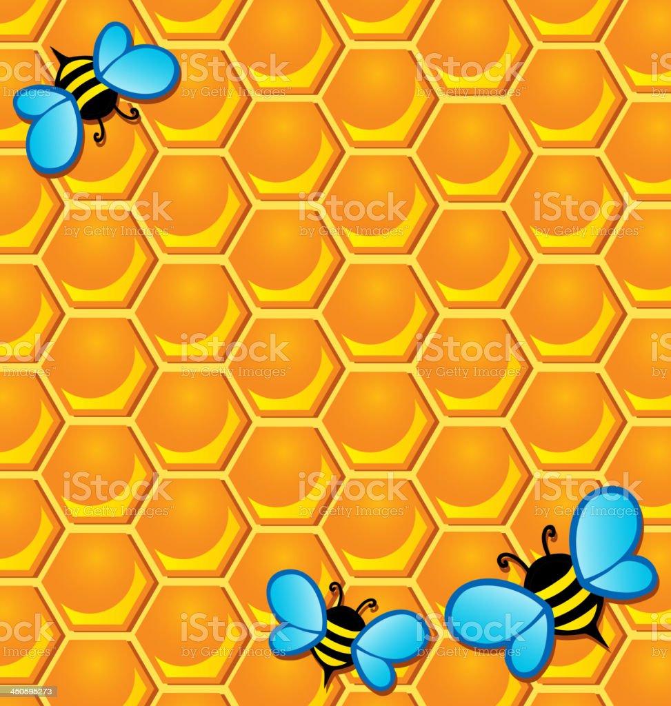 Bee theme image 2 royalty-free stock vector art