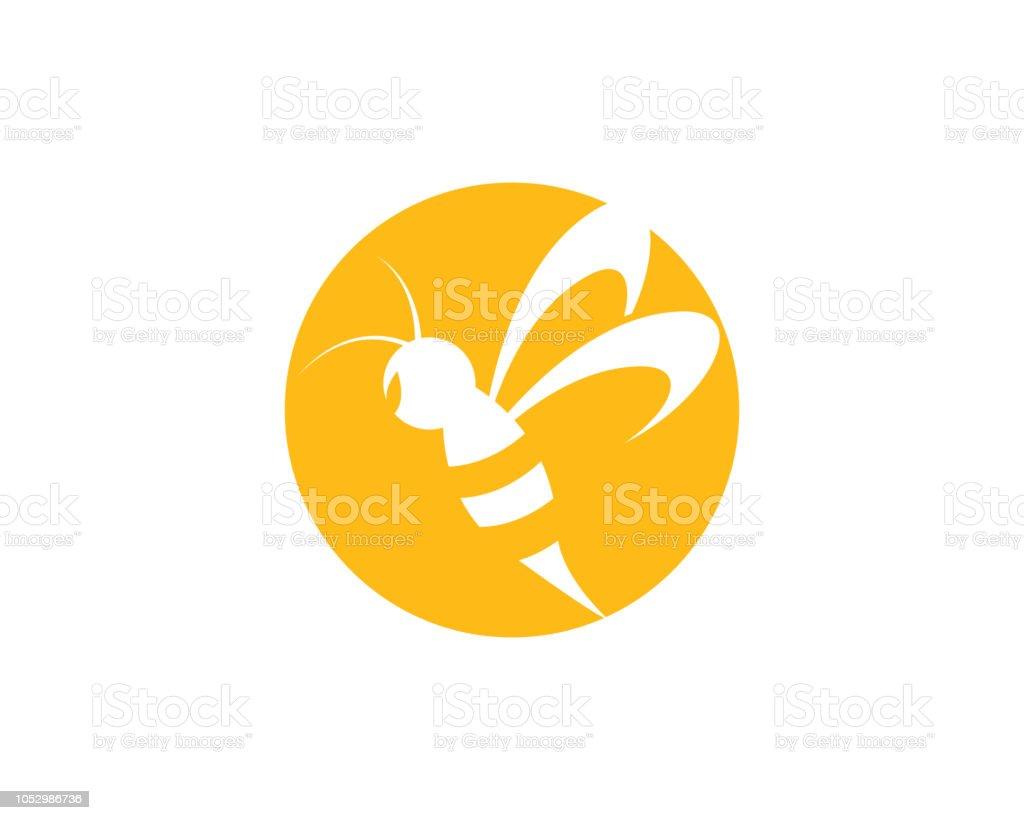 Bee vector icon illustration