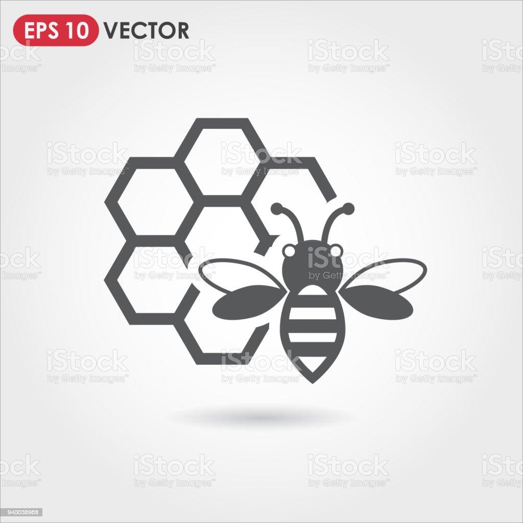 icône de vecteur d'abeille - Illustration vectorielle