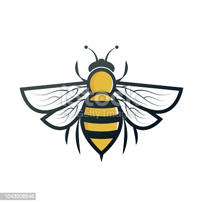 bee. eps 10 vector file