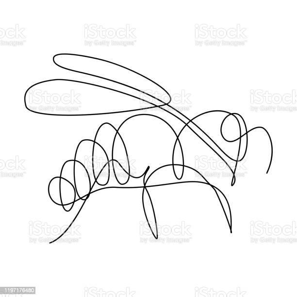 Bee - Arte vetorial de stock e mais imagens de Abelha