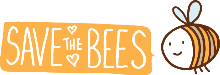 Bee with a text banner