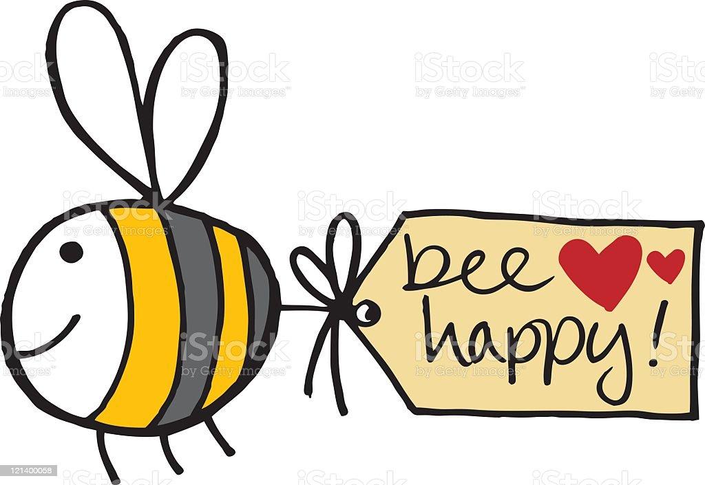 Biene mit Nachricht – Vektorgrafik