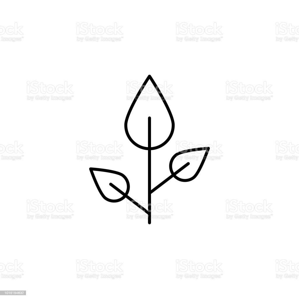Element Of Nature Icon For Mobile Concept And Web Apps Thin Line Beech Icon Can Be Used For Web And Mobile Illustration