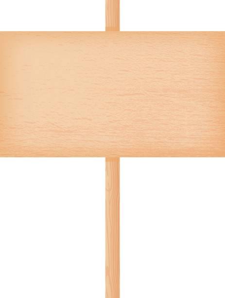buche holz schild an einem mast - buchenholz stock-grafiken, -clipart, -cartoons und -symbole