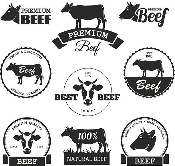 rindfleisch-label - rindfleisch stock-grafiken, -clipart, -cartoons und -symbole