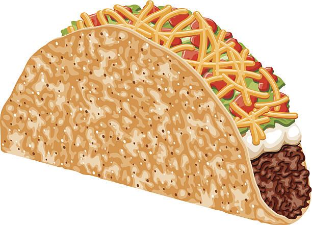 beef taco - tortillas stock-grafiken, -clipart, -cartoons und -symbole