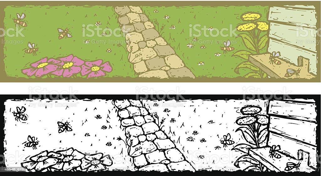 Beehive Banner royalty-free stock vector art