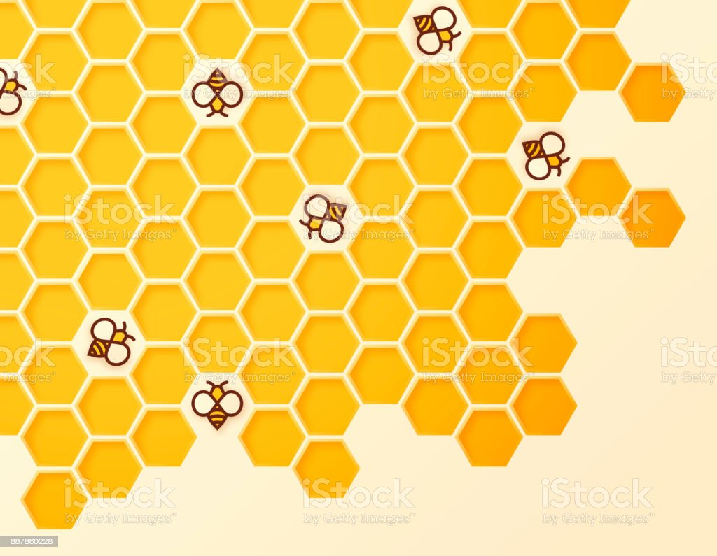 Beehive vector art illustration