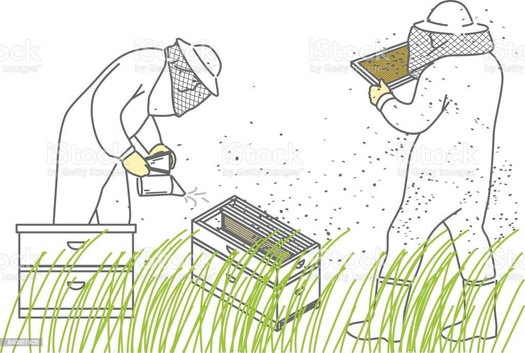 Apiculteurs - Illustration vectorielle