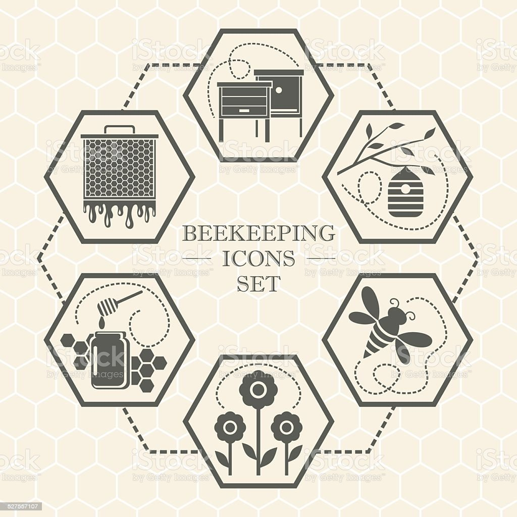 L'apiculture icônes - Illustration vectorielle