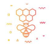 istock Beekeeping Line Style Icon Design 1155292642
