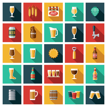 Beer and Brewing Icon Set