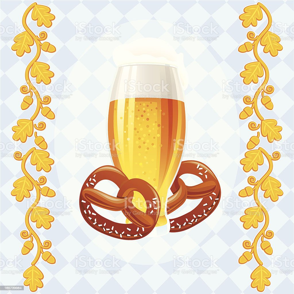 Beer and Pretzels royalty-free stock vector art