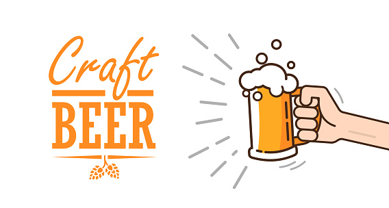 Beer background concept for banners, posters, flyers and promotional material.