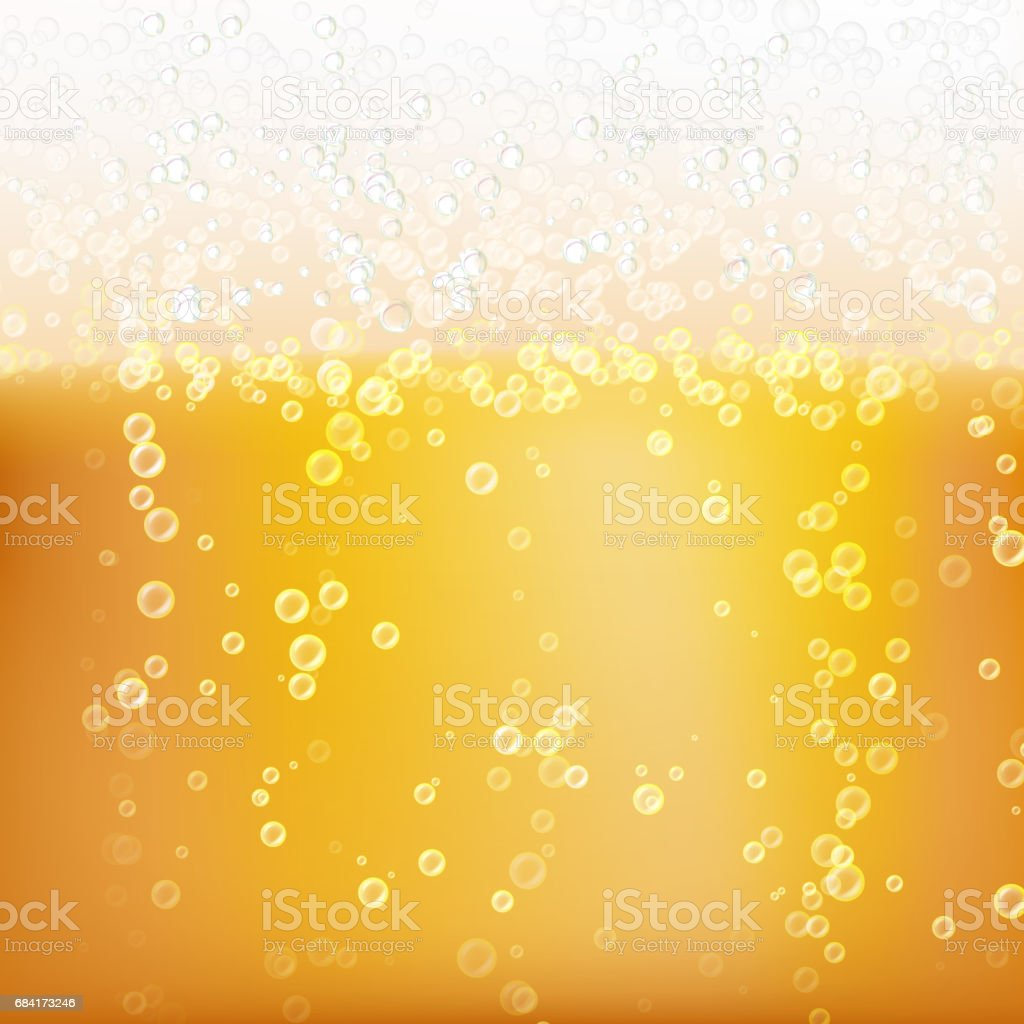 Bier Hintergrundtextur Mit Schaum Und Vubbles Makro Frefreshing Bier ...
