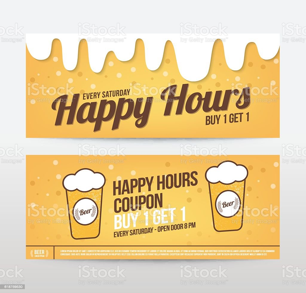 beer banner poster template vector illustration お祝いのベクター