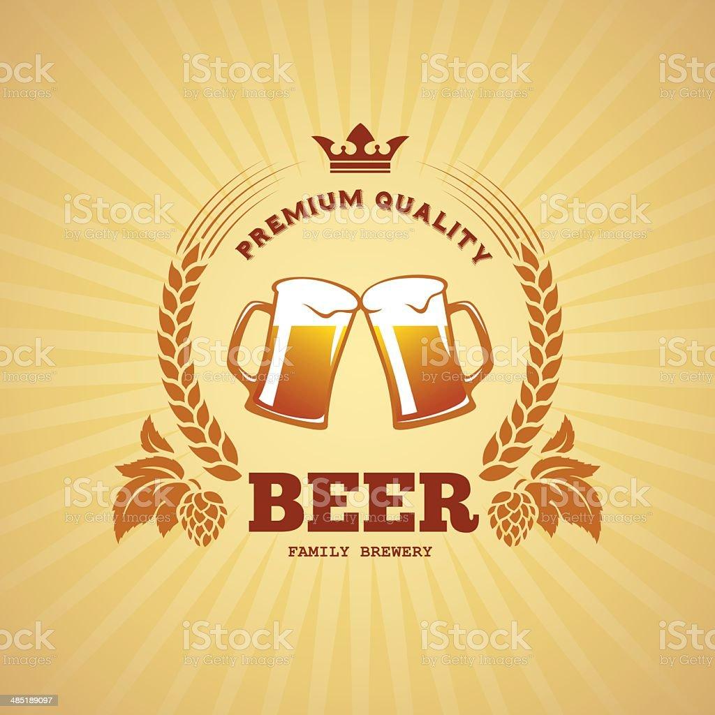 Beer banner vector art illustration