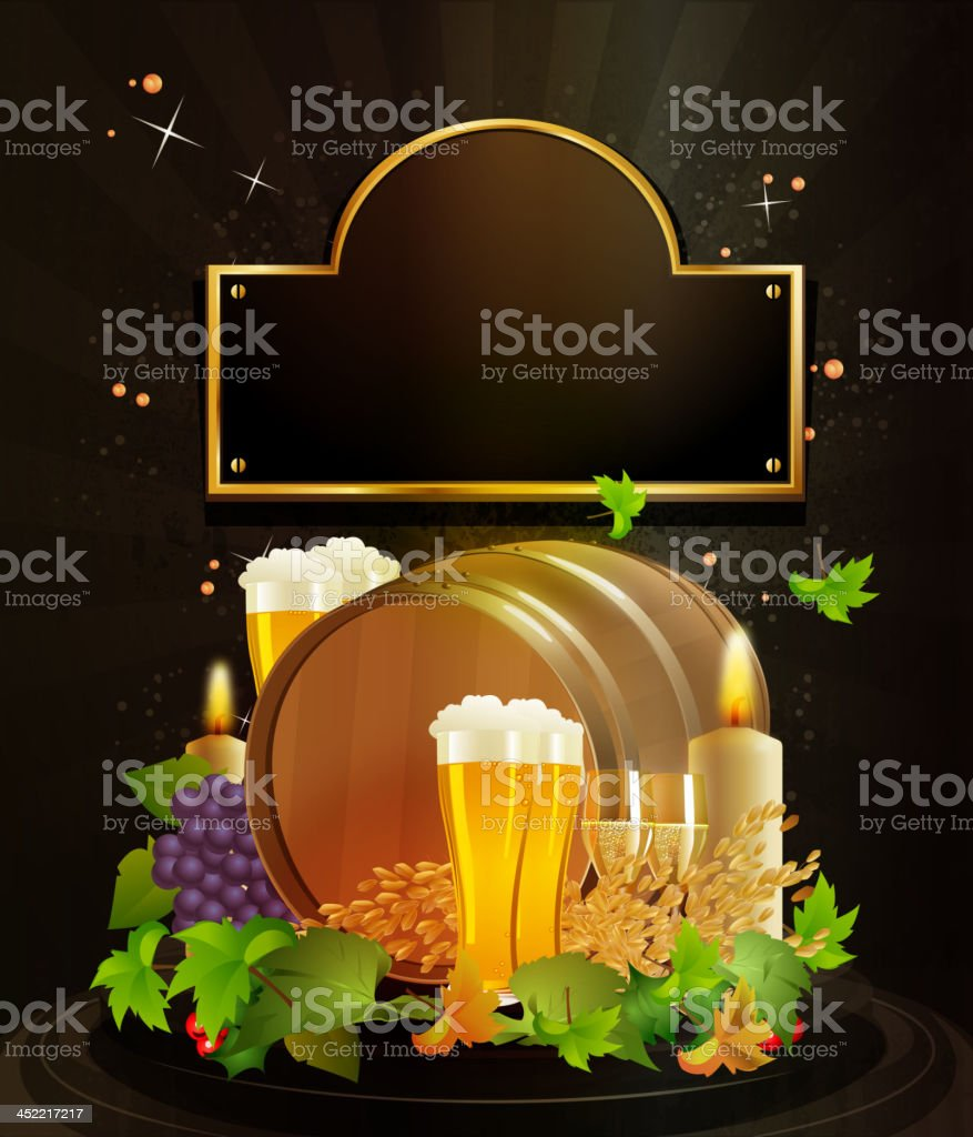 Beer Barrel with Grunge Background royalty-free beer barrel with grunge background stock vector art & more images of aging process