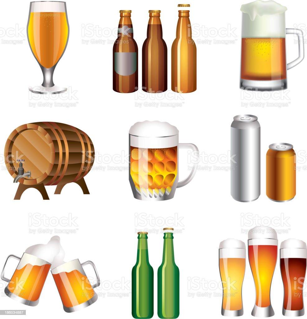 Beer big set royalty-free stock vector art