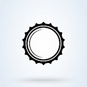 istock Beer Bottle cap vector. Illustration isolated icon. 1209939259