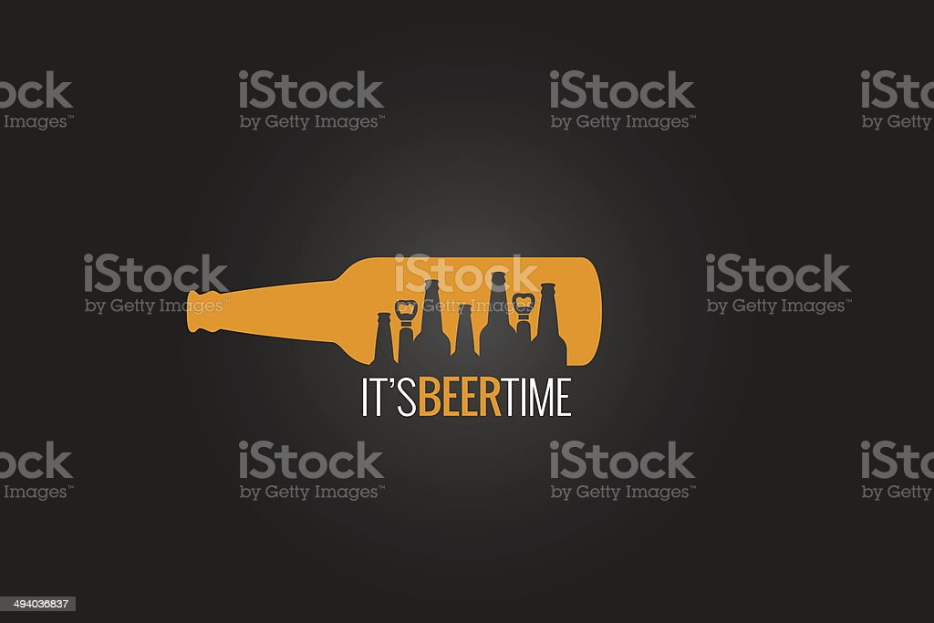 beer bottle concept design background vector art illustration