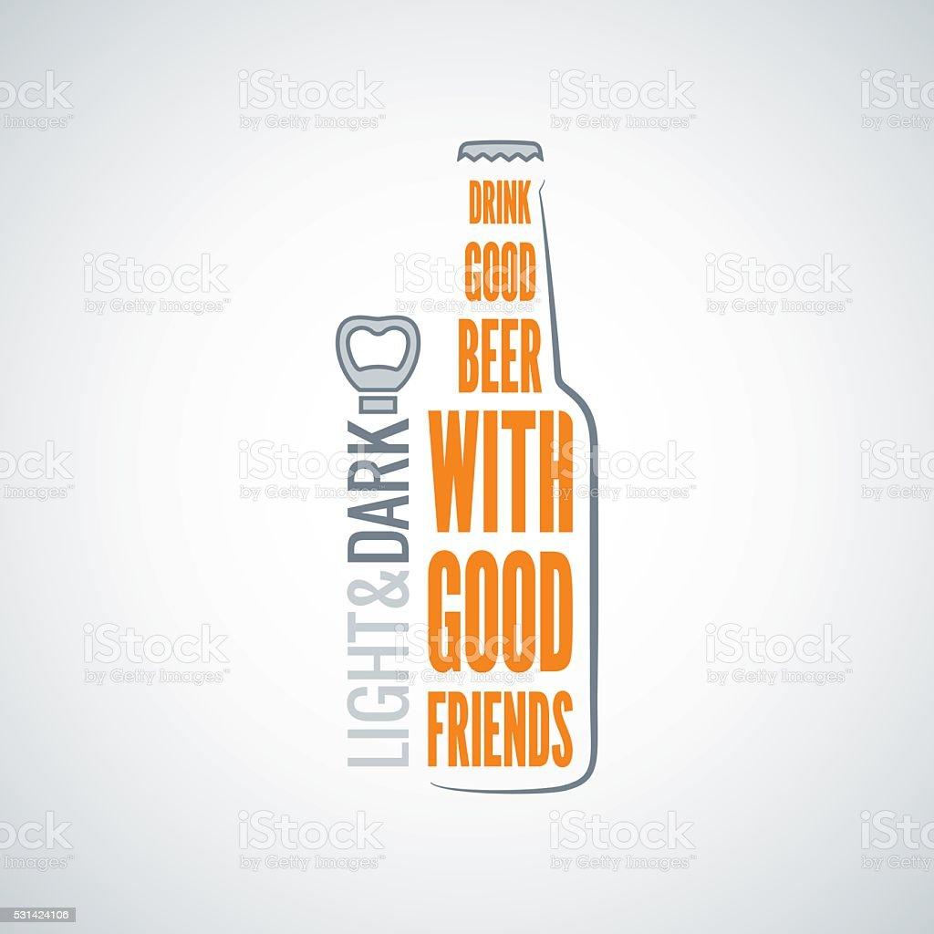 beer bottle design concept vector background vector art illustration