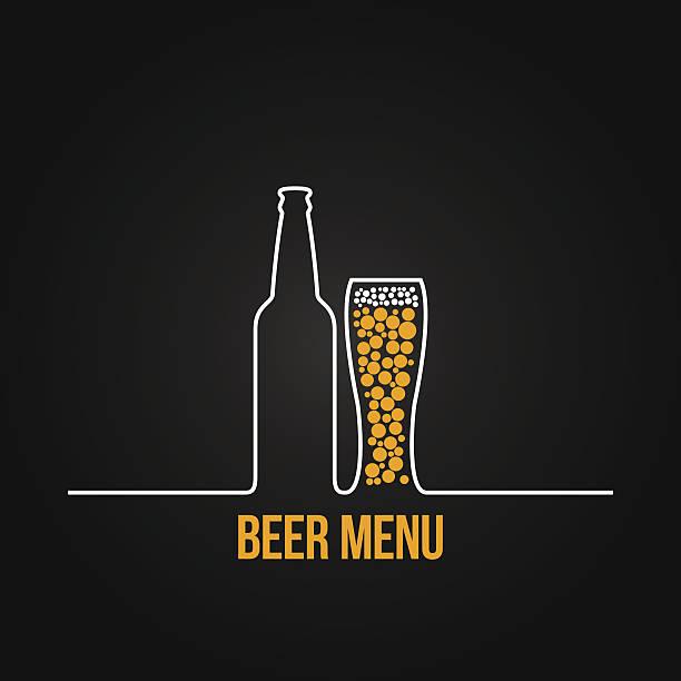 Bier Flasche Glas deign Hintergrund – Vektorgrafik