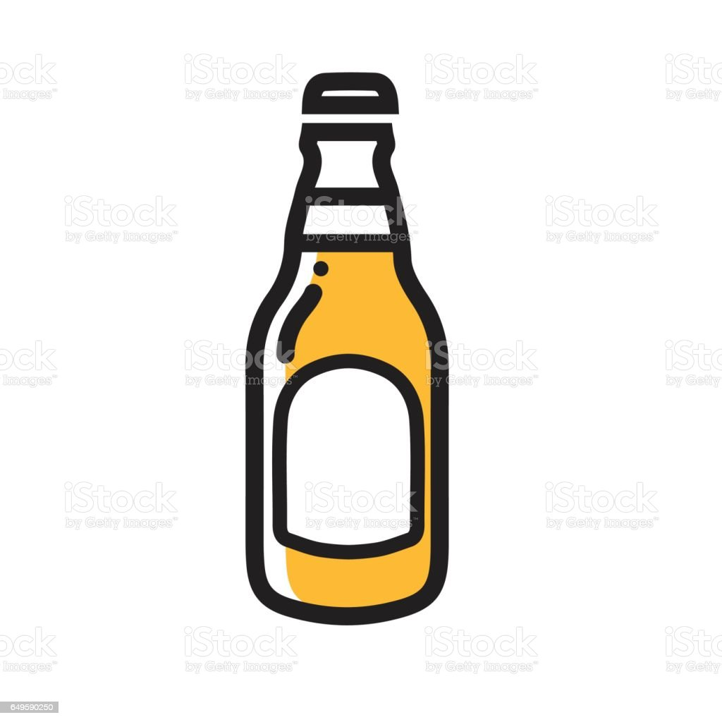 beer bottle icon thin line for web and mobile modern minimalistic rh istockphoto com beer bottle vector free download vector beer bottle label