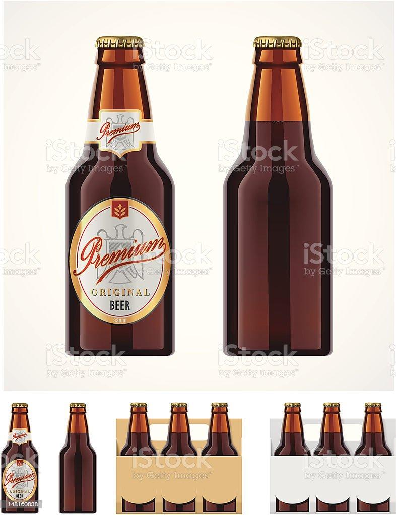 Bierflasche-Symbol – Vektorgrafik