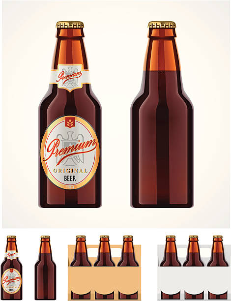 Beer bottle icon vector art illustration