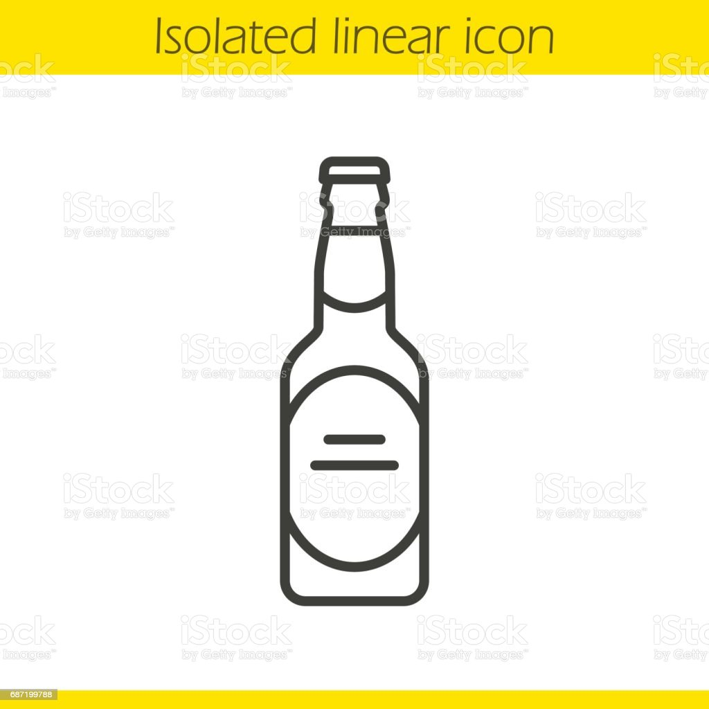 Beer bottle icon vector art illustration