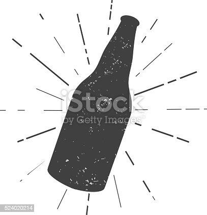 istock Beer bottle silhouette 524020214