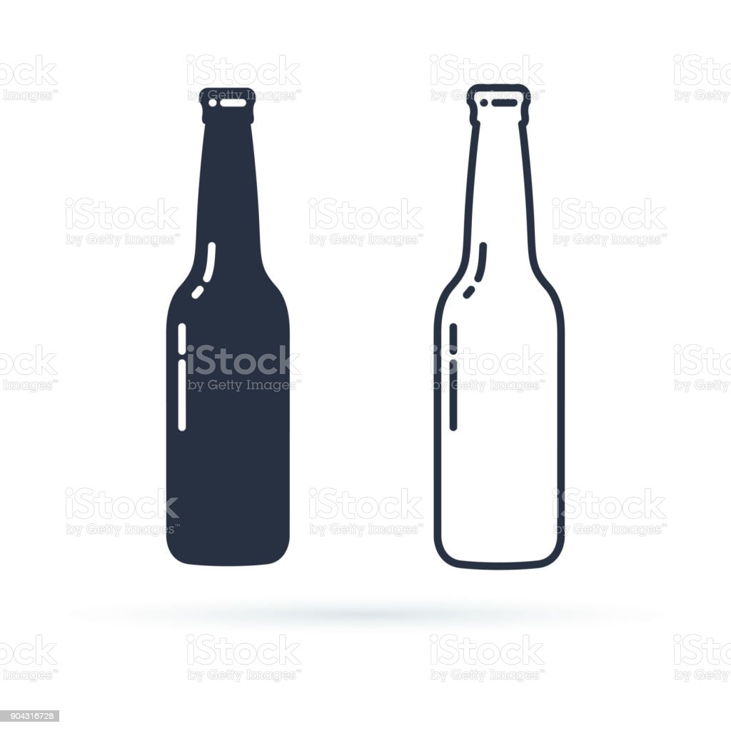 Download Beer Bottle Vector Icon Alcohol Drink Filled And Line ...