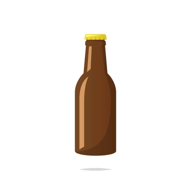 stockillustraties, clipart, cartoons en iconen met bier fles vector - bierfles