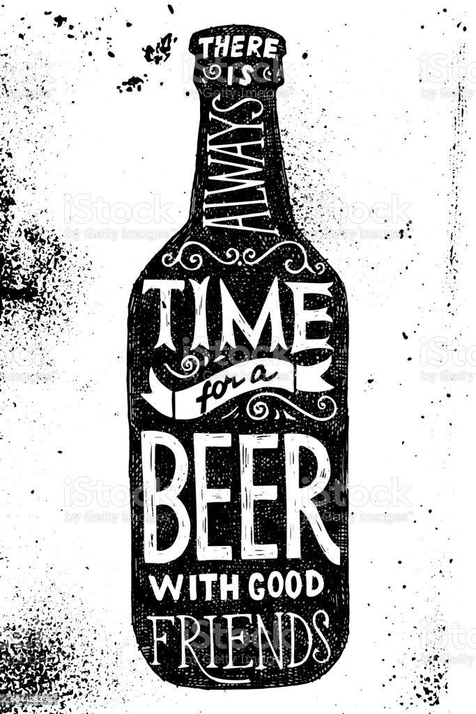 Download Beer Bottle With Type Design Stock Illustration - Download ...