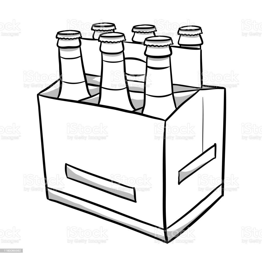 Beer Bottles Six Pack Stock Illustration Download Image Now Istock