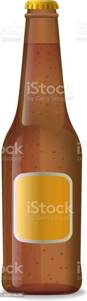 Flasche Bier Braun – Vektorgrafik