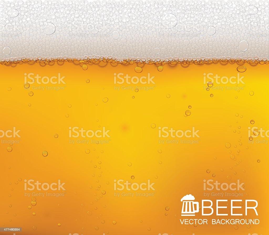 맥주 비눗방울 클로즈업. - 로열티 프리 0명 벡터 아트