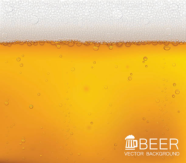 Beer bubbles close-up. Vector background. Beer in the high magnification (close-up). EPS10. beer stock illustrations