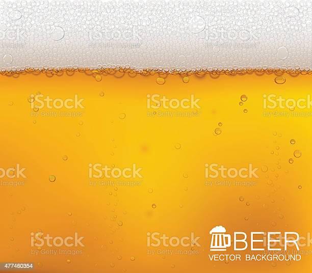 맥주 비눗방울 클로즈업 0명에 대한 스톡 벡터 아트 및 기타 이미지