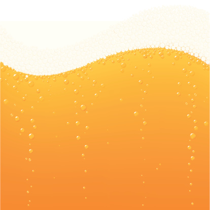 Beer bubbles wave