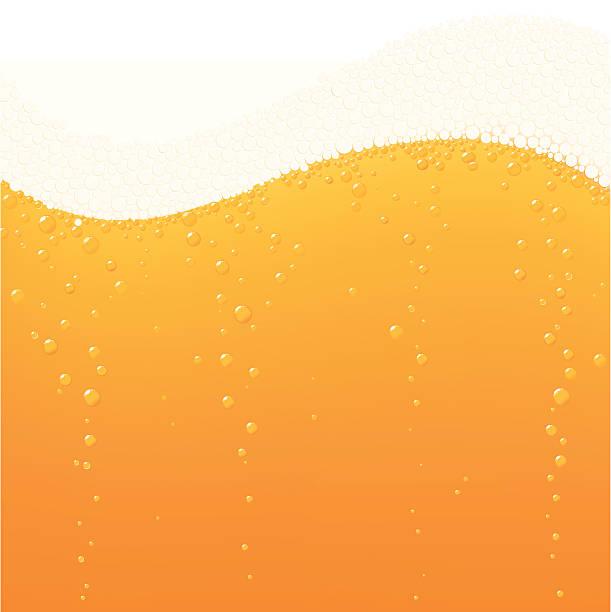 Beer bubbles wave vector art illustration